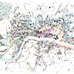 Dana Velan, Untitled from the series Legendless Maps, 2011, pen, ink, watercolour on paper, 22 x 30 in