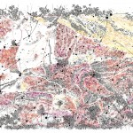 Dana Velan, Untitled from the series Legendless Maps, 2010, pen, ink, watercolour on paper, 30 x 44 in