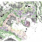 Dana Velan, Untitled from the series Legendless Maps, 2011, pen, ink, watercolour on paper, 30 x 44 in